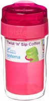 Термокружка для кофе Sistema To-Go Twist 'n' Sip Coffee, 315 мл Red (21477)