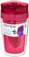 Термокружка для чая Sistema To-Go Twist 'n' Sip Tea, 370 мл Red (21476)