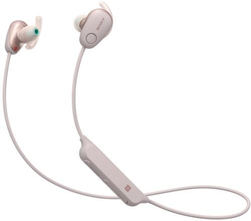 Беспроводные наушники с микрофоном Sony, WI-SP600N Pink  - купить со скидкой