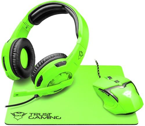 Купить Игровой набор Trust, наушники + мышь + коврик GXT 790-SB Spectra Green
