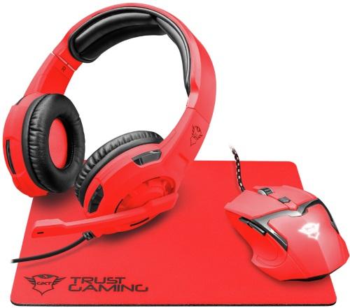 Купить Игровой набор Trust, наушники + мышь + коврик GXT 790-SB Spectra Red