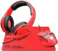 Игровой набор Trust наушники + мышь + коврик  GXT 790-SB Spectra Red
