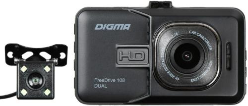 Купить Автомобильный видеорегистратор Digma, FreeDrive 108 Dual