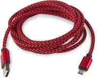 Кабель Rombica Digital AB-04 microUSB 2 м Red/Black