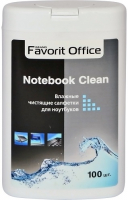 Влажные салфетки для ноутбуков Favorit Office Notebook Clean, 100 шт. (F430029)
