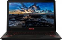 "Игровой ноутбук ASUS FX570UD-DM148T (Intel Core i5-8250U 1600Mhz/15.6""/1920х1080/6GB/500GB HDD + 128GB SSD/DVD нет/NVIDIA GeForce GTX 1050/Wi-Fi/Bluetooth/Win 10 Home)"