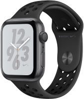 APPLE WATCH S4 NIKE+ 40MM SPACE GRAY ALUMINUM CASE WITH ANTHRACITE/BLACK NIKE SPORT BAND (MU6J2RU/A)  фото