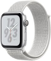 Умные часы Apple Watch S4 Nike+ 40mm Silver Aluminum Case with Summit White Nike Sport Loop (MU7F2RU/A)