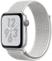 Умные часы Apple Watch S4 Nike+ 44mm Silver Aluminum Case with Summit White Nike Sport Loop (MU7H2RU/A)