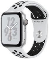 Умные часы Apple Watch S4 Nike+ 44mm Silver Aluminum Case with Pure Platinum/Black Nike Sport Band (MU6K2RU/A)