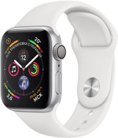 Умные часы Apple Watch S4 Sport 40mm Silver Aluminum Case with White Sport Band (MU642RU/A)