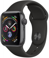 Умные часы Apple Watch S4 Sport 40mm Space Gray Aluminum Case with Black Sport Band (MU662RU/A)