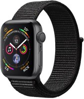 Умные часы Apple Watch S4 Sport 40mm Space Gray Aluminum Case with Black Sport Loop (MU672RU/A)