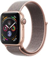 Умные часы Apple Watch S4 Sport 40mm Gold Aluminum Case with Pink Sand Sport Loop (MU692RU/A)