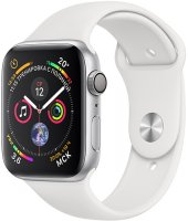 Умные часы Apple Watch S4 Sport 44mm Silver Aluminum Case with White Sport Band (MU6A2RU/A)