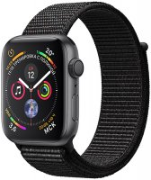 Умные часы Apple Watch S4 Sport 44mm Space Gray Aluminum Case with Black Sport Loop (MU6E2RU/A)