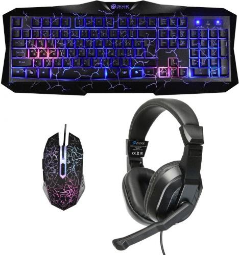 Купить Игровой набор Oklick, клавиатура + мышь + наушники HS-HKM100G Imperial