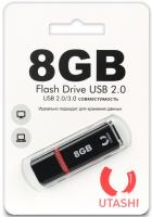 USB-флешка Utashi Flash Drive 8GB Haya Black (UT8GBHYB)
