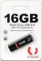 USB-флешка Utashi Flash Drive 16GB Haya Black (UT16GBHYB)