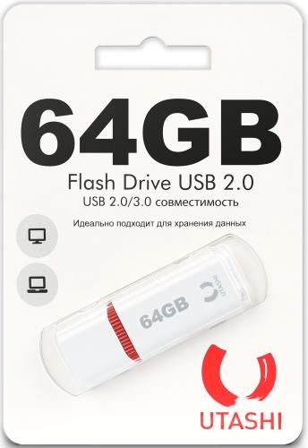 Купить USB-флешка Utashi, Flash Drive 64GB Haya White (UT64GBHYW)