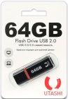 USB-флешка Utashi Flash Drive 64GB Haya Black (UT64GBHYB)