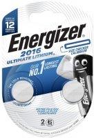 Батарейки Energizer Ultimate Lithium CR2016 BP2, 2 шт. (E301319500)