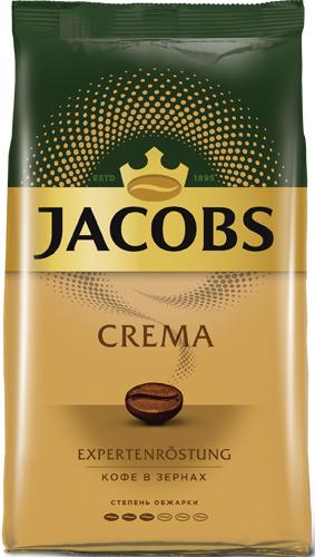 Кофе в зернах Jacobs Crema, 1 кг
