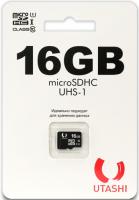 Карта памяти Utashi microSDHC 16GB Сlacc