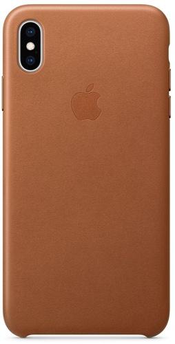 Купить Чехол Apple, Leather Case для iPhone Xs Max Saddle Brown...