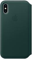 Купить Чехол Apple, Leather Folio для iPhone XS Max Forest Green
