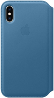 Купить Чехол для iPhone Apple, Leather Folio Cape для iPhone XS Max Cod Blue (MRX52ZM/A)