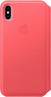 Купить Чехол Apple, Leather Folio для iPhone XS Max Peony Pink (MRX62ZM/A)