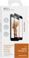 Защитное стекло с рамкой 3D InterStep для iPhone Xs черное (IS-TG-IPH18583B-000B202)