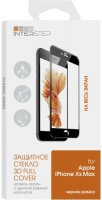 Защитное стекло с рамкой 3D InterStep для iPhone Xs Max черное (IS-TG-IPH18653B-000B202)