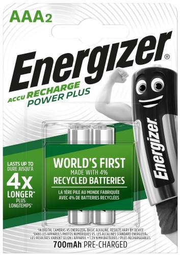 Аккумуляторы Energizer Power Plus AAA 700 мАч, 2 шт (E300626500)