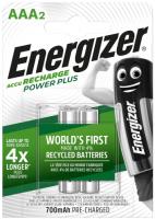 Аккумуляторы Energizer Power Plus AAA, 2 шт (E300626500) фото