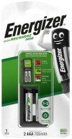 Зарядное устройство Energizer Mini Charger + 2xAAA, 700mAh (E300701400)