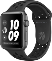 APPLE WATCH S3 NIKE+ 42MM SPACE GRAY ALUMINUM CASE WITH ANTHRACITE/BLACK NIKE SPORT BAND  фото