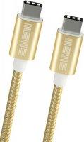 Кабель InterStep Type-C-Type-C, USB 2.0, 1 м, Gold (IS-DC-2TYPCUSNG-000B201)