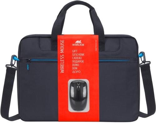 Купить Сумка для ноутбука RIVACASE, 15, 6 + мышь Black (8038)
