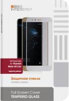 Защитное стекло с рамкой 2.5D InterStep для Huawei Mate 20 Lite, черная рамка (IS-TG-HUAMT2LFB-000B202)