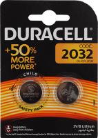 Купить Батарейки Duracell, литьевые CR2032-2BL, 2 шт