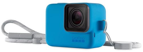 Купить Силиконовый чехол с ремешком GoPro, Blue (ACSST-003)