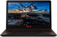 "Игровой ноутбук ASUS FX570UD-DM176T (Intel Core i7-8550U 1.8GHz/15.6""/1920х1080/8GB/1TB+128GB SSD/NVIDIA GeForce GTX 1050/DVD нет/Wi-Fi/Bluetooth/Win 10)"