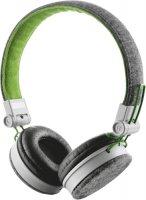 Наушники с микрофоном Trust Fyber Grey/Green (20080)