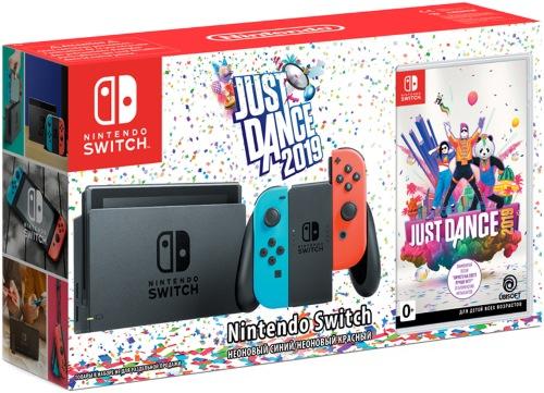 Купить Игровая приставка Nintendo, Switch синий/красный + Just Dance 2019