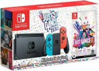 Игровая приставка Nintendo Switch синий/красный + Just Dance 2019