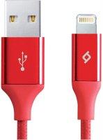 Кабель для iPod, iPhone, iPad TTEC AlumiCable MFI Lightning 8pin Red (2DKM02K)