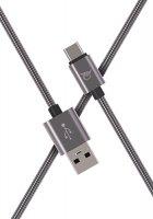 Кабель Elray USB/Type-C 2 м Grey (AC20MBC20GR)