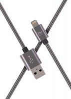 Кабель Elray USB/8-pin Lightning 2 м Grey (ALMBC20GR)